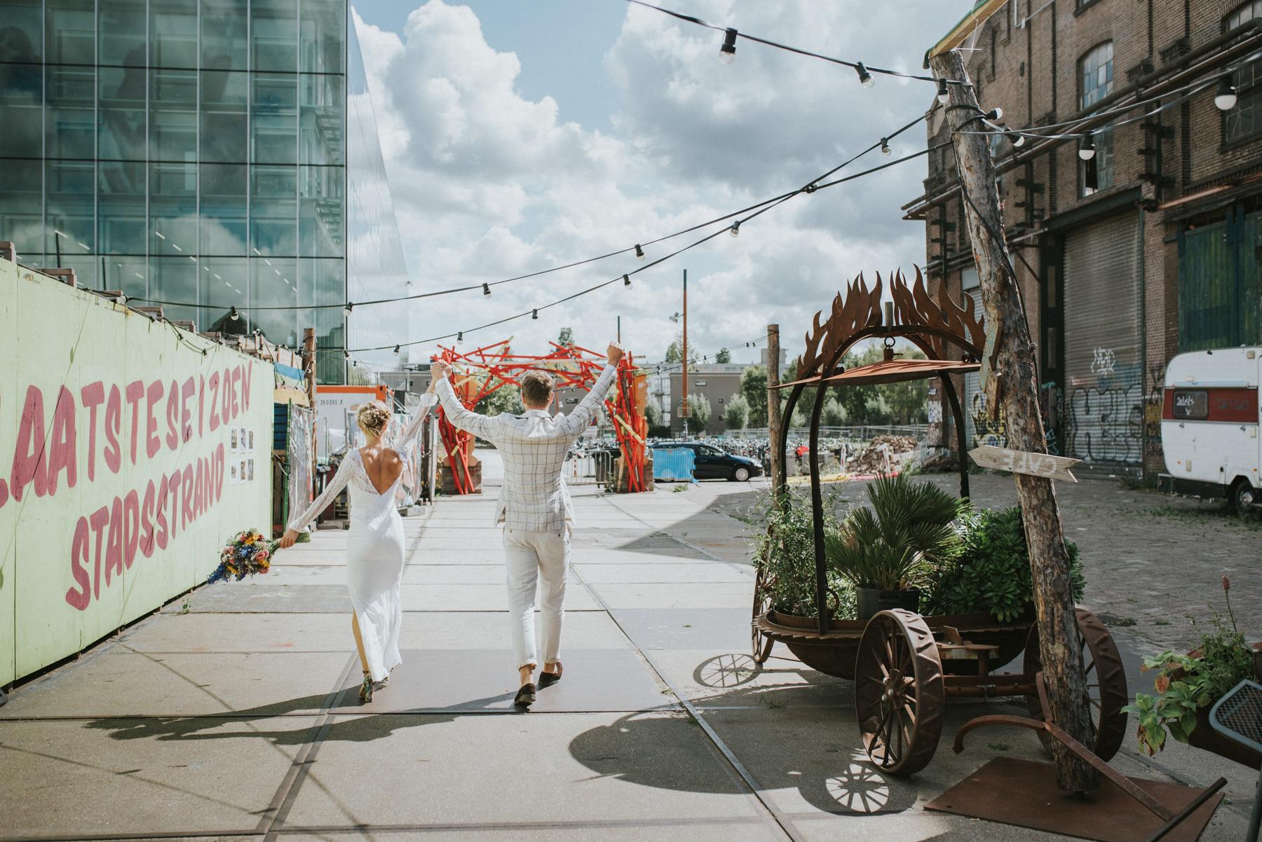 Bruiloft, buiten, festival, Marisa Elisa